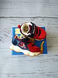 Дитячі кросівки для хлопчиків, дівчаток червоні, фото 3