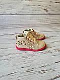 Ботинки для девочек, золотые, детская обувь, фото 2