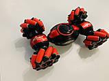 Машинка-перевертыш Stunt трюковый автомобиль с управлением с руки красная, аккумулятор, фото 2
