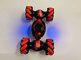Машинка-перевертыш Stunt трюковый автомобиль с управлением с руки красная, аккумулятор, фото 5