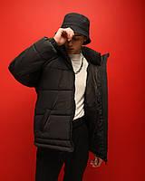 Куртка мужская зимняя ОВЕРСАЙЗ до - 20*С Brat черная   Пуховик мужской зимний ЛЮКС качества