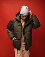 Куртка мужская зимняя ОВЕРСАЙЗ до - 20*С Brat хаки   Пуховик мужской зимний ЛЮКС качества