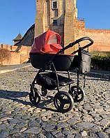 Детская коляска 2 в 1 Peppy Classik эко кожа эко кожа оранж