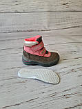 Кожаные ортопедические ботинки для девочек DD Step AQUA-TEX (Венгрия) 24р, 15см, фото 6