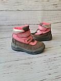 Кожаные ортопедические ботинки для девочек DD Step AQUA-TEX (Венгрия) 24р, 15см, фото 8