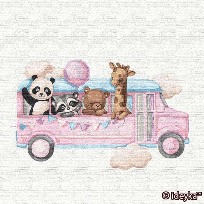 Картины по номерам Идейка 30х30 см Веселый автобус (КНО2356)