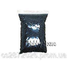 Шарики пенопластовые 2-4 мм,1000 мл, Чёрные, для слаймов и декора.