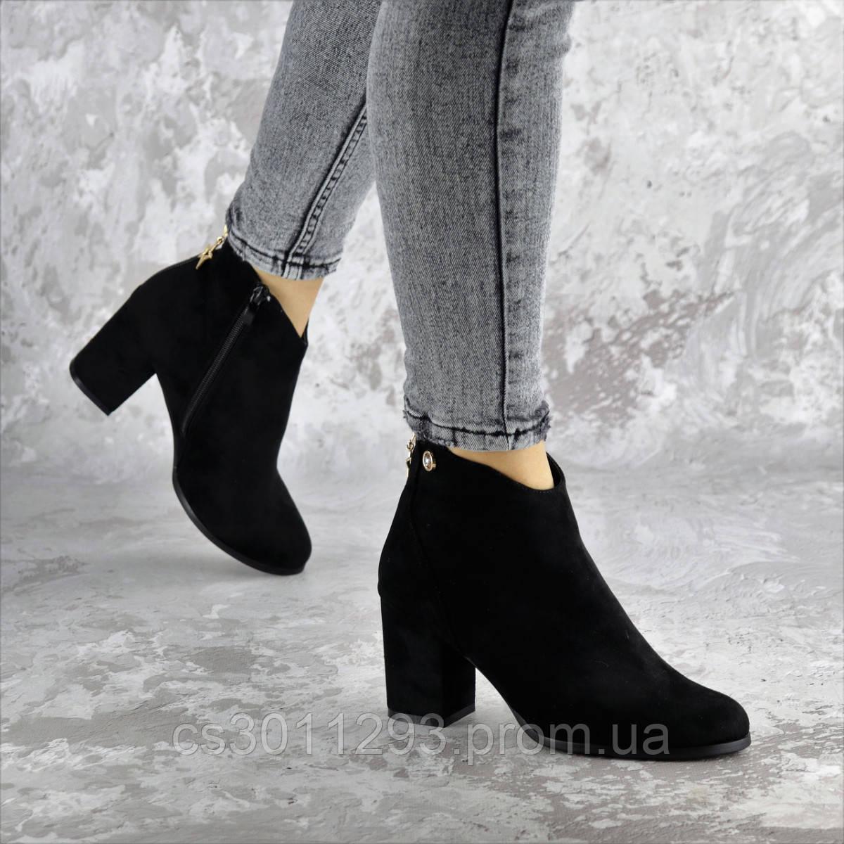 Ботильоны женские Fashion Guinness 2364 36 размер 23,5 см Черный