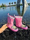 Резиновые сапоги для девочек Hemuyu (BBT) 25р, 16.5см, фото 4