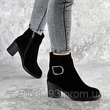 Ботильоны женские зимние Fashion Napolean 2377 37 размер 24 см Черный, фото 2