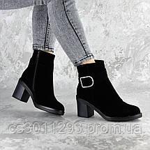 Ботильоны женские зимние Fashion Napolean 2377 37 размер 24 см Черный, фото 3
