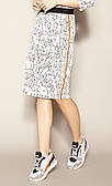 Жіноча спідниця Pamira Zaps молочного кольору з принтом, розміри S-3XL