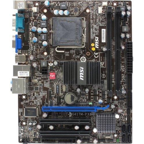 Плата s775 MSI MS-7592 ( G41TM-P33 ) на DDR2 G41 Поддерживает ЛЮБЫЕ 2-4 ЯДРА ПРОЦЫ INTEL XEON, Core2QUAD