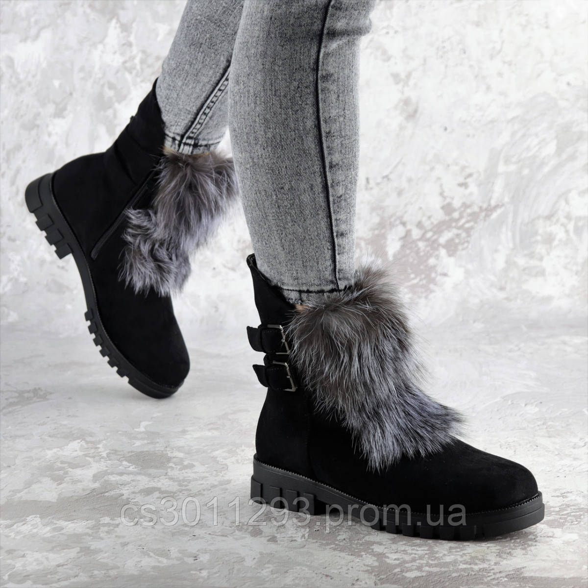 Ботинки женские зимние Fashion Beast 2334 36 размер 23,5 см Черный