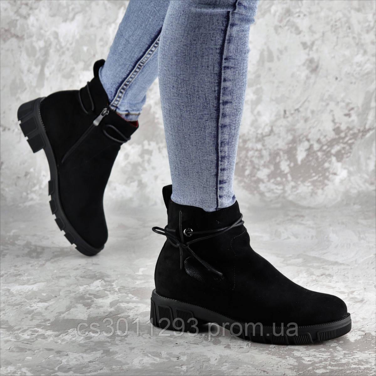 Ботинки женские зимние Fashion Kuvic 2314 36 размер 23,5 см Черный