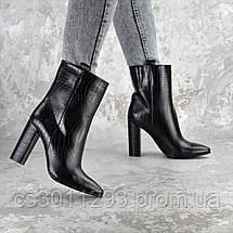 Ботинки женские на каблуке Fashion Magintey 2369 35 размер 23 см Черный, фото 2