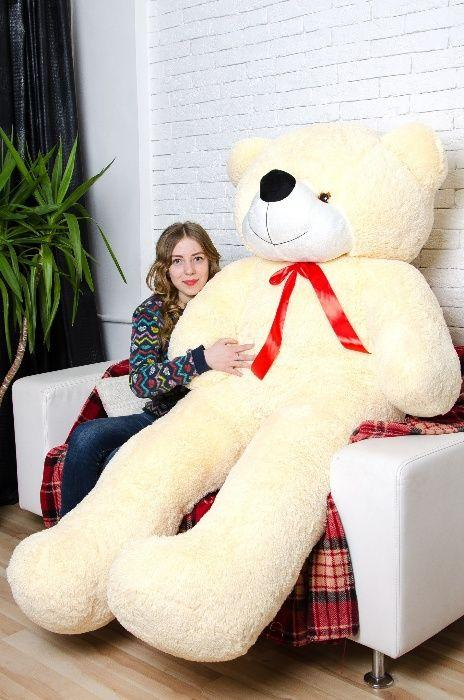 М'який плюшевий ведмедик 2 метри. Великий плюшевий ведмедик. М'який ведмідь