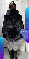 Куртка из норки , комбинированная с мутоном, фото 1