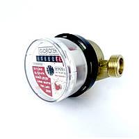 """Счетчик горячей воды Gidrotek E-T 1,6U 1/2"""" со штуцером (110мм), фото 1"""