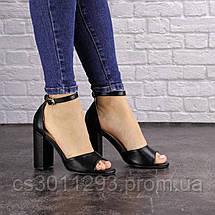 Женские босоножки на каблуке Fashion Cliff 1533 38 размер 24,5 см Черный, фото 3