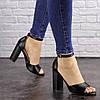 Женские босоножки на каблуке Fashion Cliff 1533 38 размер 24,5 см Черный, фото 2