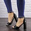 Женские босоножки на каблуке Fashion Cliff 1533 38 размер 24,5 см Черный, фото 4