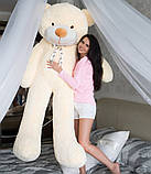 М'який плюшевий ведмедик 2 метри. Великий плюшевий ведмедик. М'який ведмідь, фото 6