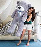 М'який плюшевий ведмедик 2 метри. Великий плюшевий ведмедик. М'який ведмідь, фото 8