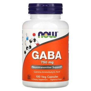 Аминокислоты Габа Now GABA 750 mg (100 капсул.)