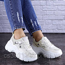 Женские кроссовки Fashion Braxton 1742 39 размер 24 см Бежевый, фото 3