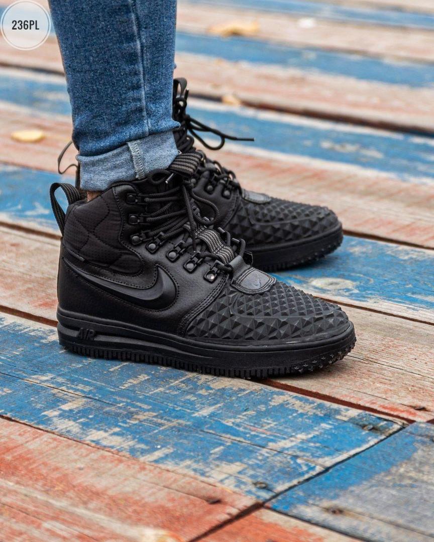 ЗИМА!!! Мужские кроссовки Nike Lunar Force 1 Duckboot Black Winter