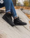 ЗИМА!!! Мужские кроссовки Nike Lunar Force 1 Duckboot Black Winter, фото 2