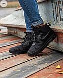 ЗИМА!!! Мужские кроссовки Nike Lunar Force 1 Duckboot Black Winter, фото 5