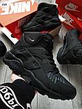 ЗИМА!!! Мужские кроссовки Huarache Off BLACK Winter, фото 5