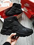 ЗИМА!!! Мужские кроссовки Huarache Off BLACK Winter, фото 6