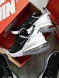Мужские кроссовки Air Max 270 black white, фото 3