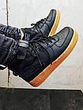 Мужские кроссовки Air Force Hight Black, фото 2