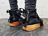 Мужские кроссовки Air Force Hight Black, фото 5