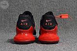 Мужские кроссовки Air Max 270 Cauchuk Flair Black/Red, фото 2