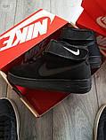 Мужские кроссовки Nike Air Force Flyknit Hight Black, фото 3