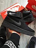 Мужские кроссовки Nike Air Force Flyknit Hight Black, фото 4