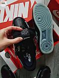 ДЕМИСЕЗОН! Мужские кроссовки Nike Air Force Skeleton QS Black, фото 4