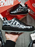 ДЕМИСЕЗОН! Мужские кроссовки Nike Air Force Skeleton QS Black, фото 6