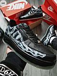 ДЕМИСЕЗОН! Мужские кроссовки Nike Air Force Skeleton QS Black, фото 7