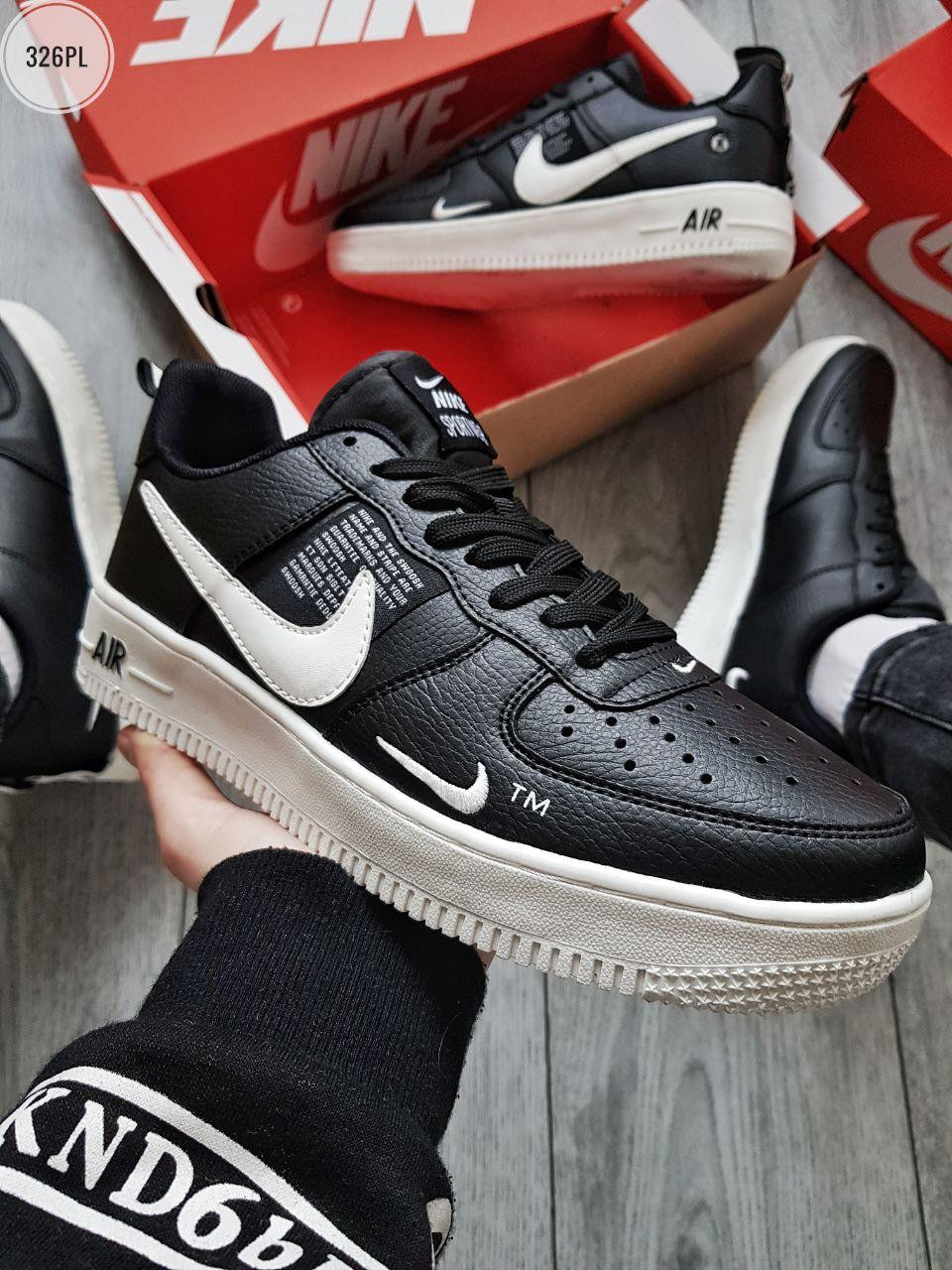 Мужские кроссовки Nike Air Force Low Black/White