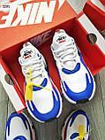 Мужские кроссовки Nike Air Mаx 270 Reаct Blue/White/Red, фото 2