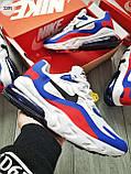 Мужские кроссовки Nike Air Mаx 270 Reаct Blue/White/Red, фото 4