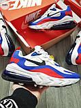 Мужские кроссовки Nike Air Mаx 270 Reаct Blue/White/Red, фото 5