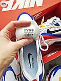Мужские кроссовки Nike Air Mаx 270 Reаct Blue/White/Red, фото 7