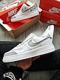 Мужские кроссовки Nike Air Force 1 Low Under Construction White/Grey, фото 4